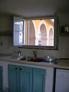 Città di Castello villa rental - From the kitchen to the portico