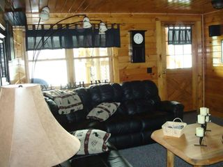 Lunenburg cabin photo - .Family room on lower level w/ pullout couch