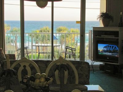 Watch the new LCD TV and get a view of the Gulf too!