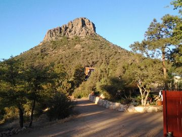 Prescott cabin rental - View of Thumb Butte From the Cottage