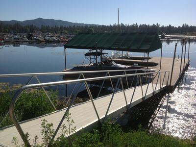 Easy access boat dock with room for boats