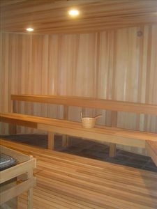 After a Day at The Beach or Around Town, Relax in The Dry Sauna or Steam