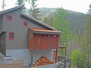 Taos Ski Valley house photo - Exterior view with Taos Ski Valley in background