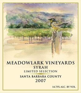 Meadowlark Vineyards Syrah 2007