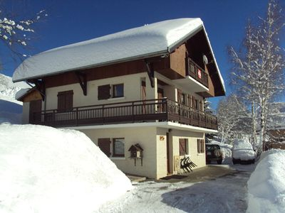 2-room chalet, ideal for 4 people.  Panoramic view. Skis