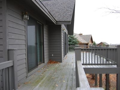 Bellaire / Shanty Creek house rental - Back deck