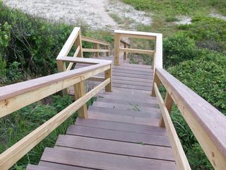 Tom Nevers house photo - Brand new community stairs to access beach at end of Wanoma Way.