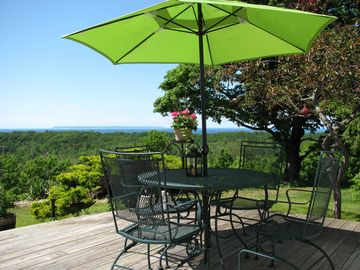 The large deck is great for alfresco dining and enjoying the sunsets.