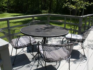 .outdoor seating with grill - Great Barrington property vacation rental photo
