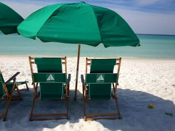 2 Beach Chair and Umbrella Included