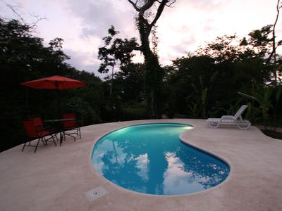 Pool with Guayacan Tree in the background