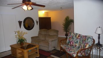 Ground floor living room with T.V./DVD player