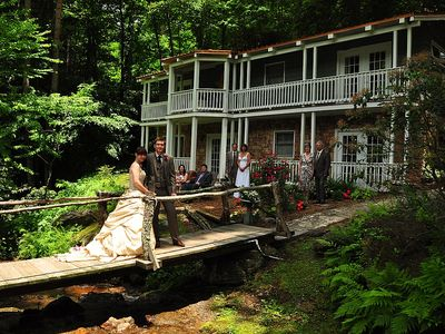 A destination wedding at The Creek House