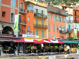Villefranche-sur-Mer apartment photo - Great restaurants along the waterfront