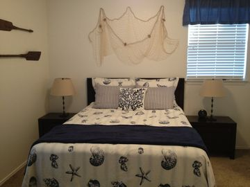 Queen size bed, ample storage, including walk-in closet!