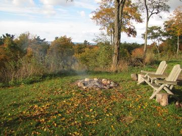 Enjoy views of Lake Michigan from the firepit