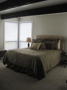 First-floor master bedroom suite is handicap accessible