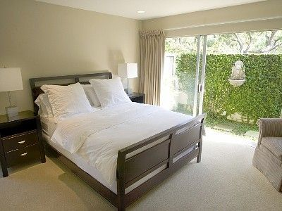 Large Guest bedroom with outside access