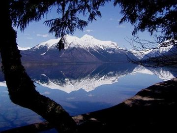 Lake McDonald inside Glacier National Park less than 10 miles from our VRBO.