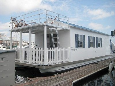 The Houseboat in Boston Harbor - By Rock On Rentals!