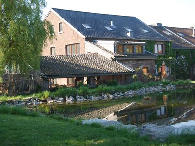 Part of an old manor with a large swimming pool in the border triangle B, NL, D