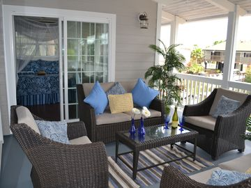 Enjoy morning coffee or catch the sunset with a glass of wine on the veranda.