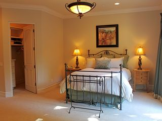 Rancho Santa Fe estate photo - Guest Home Master Bedroom #2 - Queen, Full Bath, Private Entrance
