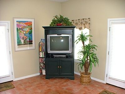 Large Screen Television, Cable, DVD-VCR and Video Library