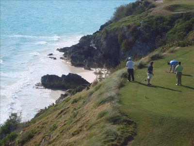 Enjoy breathtaking views while playing golf at nearby Port Royal Golf Course.