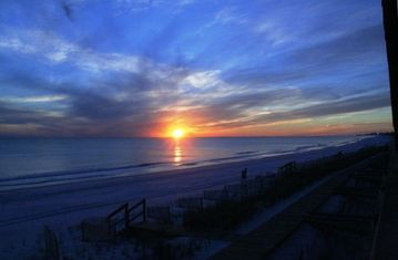 Frangista Beach townhome rental - sunset