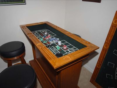 Games table in games room