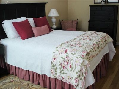 Master bedroom with pillow top mattress