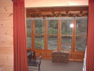Blue Ridge cabin photo - Sunroom Looking Down on The Toccoa River