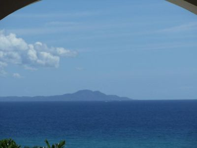 View from villa of ocean and Vieques