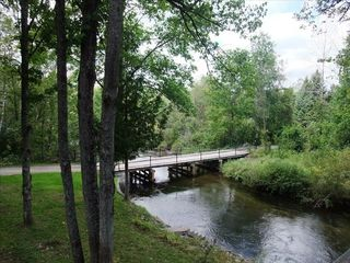 Traverse City cottage photo - Private Wooden Bridge