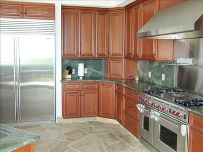 Large Gourmet Kitchen with 3 ovens, microwave, gas stove, warming drawer