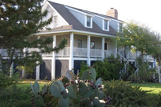 Georgetown house rental debordieu beach oceanview home for Beach house with wrap around porch