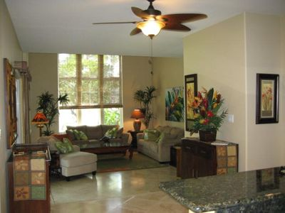 Relax in this luxurious living room, also has TV/DVD and CD player