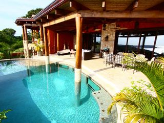 Playa Panama villa photo - Infinity pool and sun terrace.
