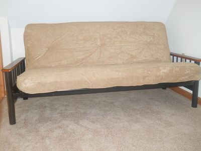 Futon in loft area outside master bedroom. (open to downstairs)