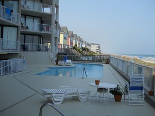 Garden City Beach condo photo - deck view of North Pool