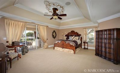 The Royal Master Bedroom Complete with Fine Linens