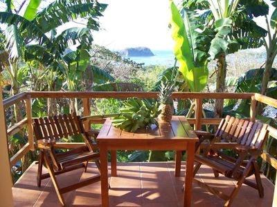 Your own private terrace with a fantastic Pacific Ocean view.