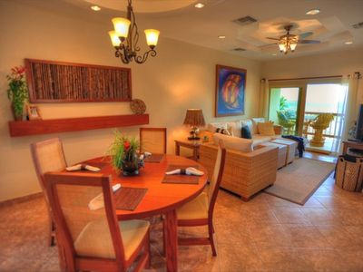 Our Dining Room and Living Area - with Custom, Belizean Furnishings and Artwork!