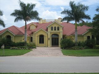 Bonita Springs estate photo - Front Elevation View