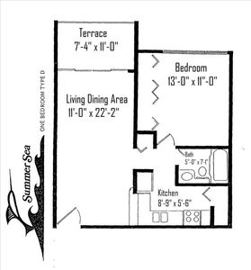 Plantation Key condo rental - Floor Plan