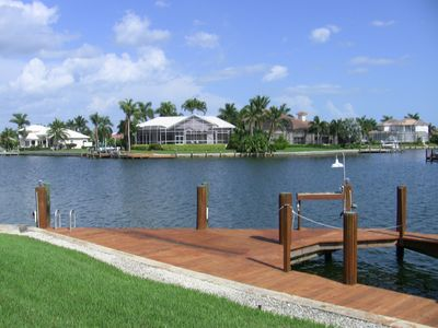 Vacation Homes in Marco Island house rental - 3 converging waterways, facing South, where Dolphins come to play at times :)