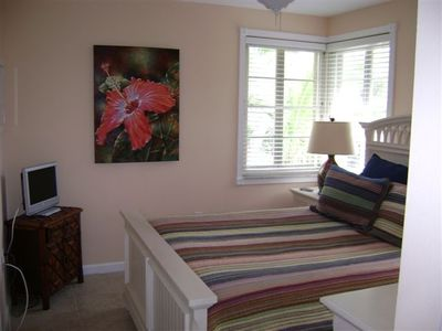 View of Second Bedroom, queen bed and TV
