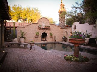 Tucson estate photo - Romantic Pool. View from master bedroom