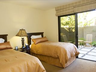 Rancho Mirage villa photo - guest bedroom with private meditation courtyard